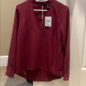 Long sleeve vneck blouse
